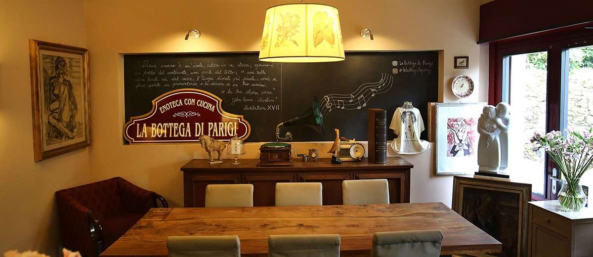 bar di enoteca bottega di parigi